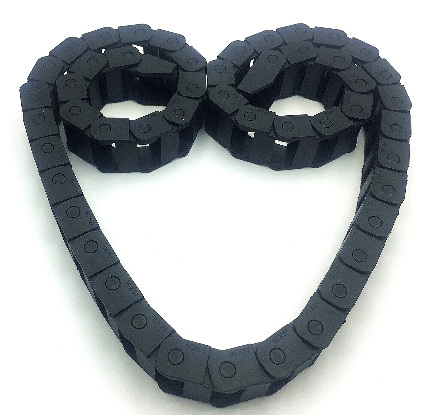 Cable Chain 10x20 mm 1M Non Snap-Open Plastic Towline Transmission Drag Chain Machine Auxcell Ltd 5559007229