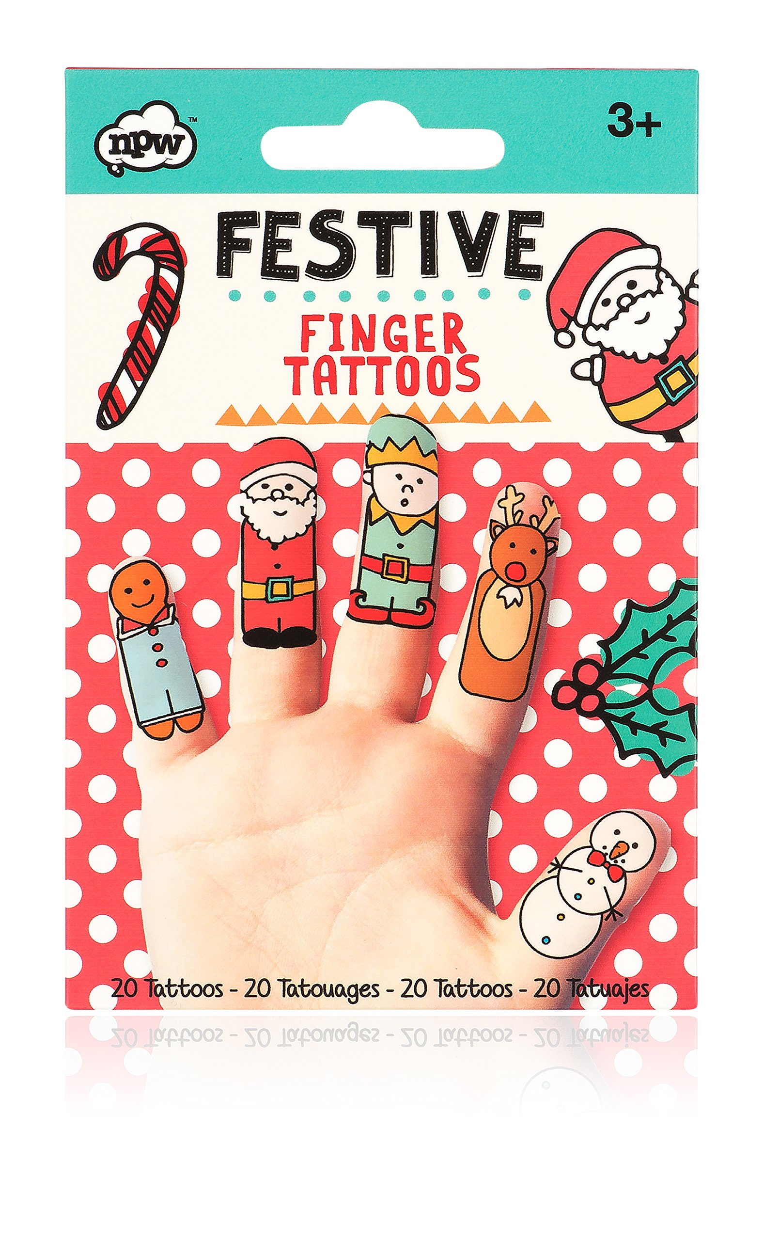 NPW W17823 Festive Finger Tattoos