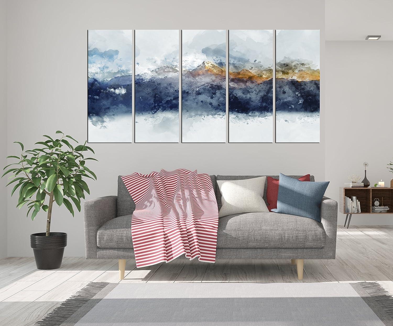 Amazon Com Large Abstract Wall Art Abstract Mountain