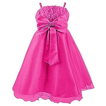 Disney Princesas Vestido de Verano de Fiestas y Gala con Falda de Tul, con cinturón