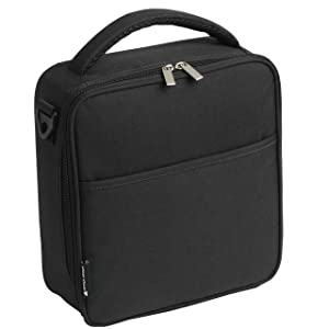 UPPER ORDER Durable Insulated Lunch Box Tote Reusable Cooler Bag 25% LARGER Greater Storage (Obsidian Black)