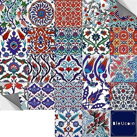Türkische Fliesenaufkleber Für Küche Badezimmer Backsplash, Tür, Schrank,  Abnehmbare Schale Und Stick Stair Riser Abziehbild Pack Von 44 (15cm X 15cm  (Pack ...