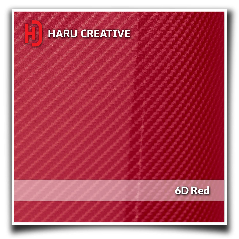 Four Door Set Haru Creative Toyota Tacoma 2016 2017 2018 Door Sill Protector Letter Overlay VInyl Decal - 6D High Gloss Carbon Fiber Red Loyo