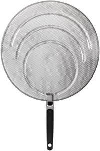 OXO 1064468 Good Grips Stainless Steel Splatter Screen with Folding Handle,Silver