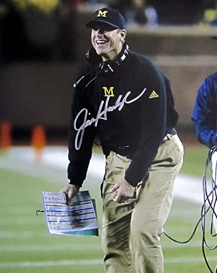 JIM HARBAUGH Hand SIGNED AUTOGRAPHED 11x14 PHOTO w COA Michigan WOLVERINES 2642e603c