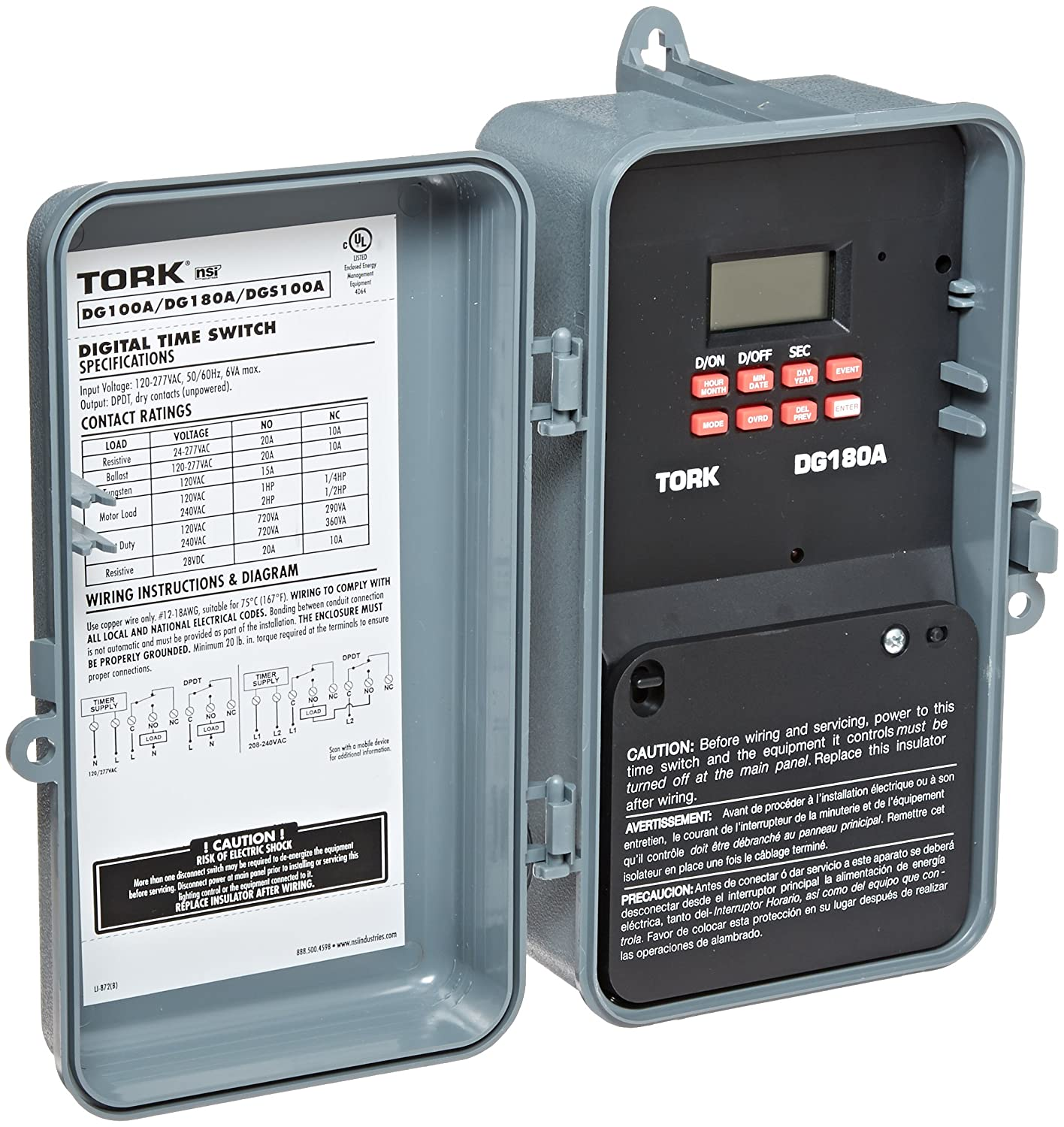 DGS Series Signaling and Duty Cycle 24 Hour Time Switch with 1 Channel 120-277 VAC 50/60 Hz Input Supply DPDT Output Contact Electronic Photo Detectors ...  sc 1 st  Amazon.com : 277 vac wiring - yogabreezes.com