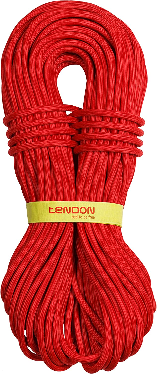 70 Meters, Red Rappelling Tendon Dynamic Single Climbing Rope UIAA//CE Certified Rock Climbing Rope Cord Master Pro 9.2mm SBS Braided Rope for Mountaineering Hiking for Climbing