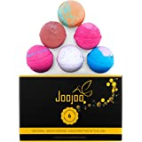 Joojoo Bath Bombs - SIX EXTRA LARGE 4.5 oz Ultra Lush Fizzy Bath Bombs Per Bath Bomb Kit-- Handmade In USA - Lavender, Moonlight & Roses, Cucumber Melon, Crazy Love, Petal Dance, Kiss Me