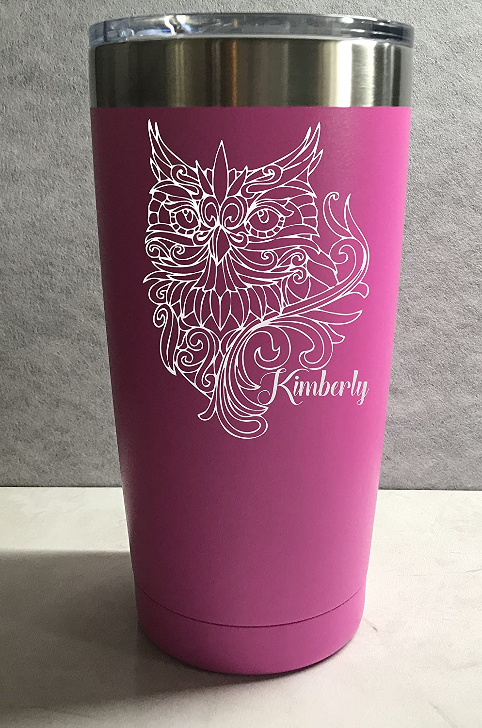 Majestic Owl Personalized Engraved Insulated Stainless Steel 20 oz Tumbler