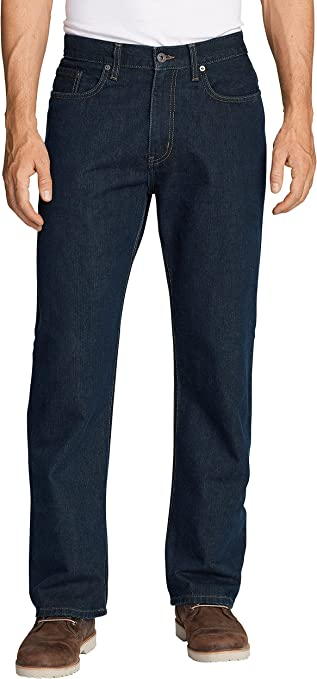 TALLA 30W / 34L. Eddie Bauer Authentic Jeans-Relaxed Fit-Baumwolle Vaqueros Straight para Hombre