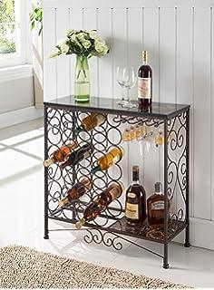 Amazoncom Celtic Bistro Bar Room Wine Rack Kitchen Dining