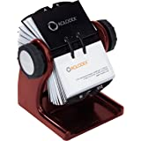 Rolodex Wood Tones Collection Open Rotary Business Card File (2.63 by 4 Inch), 200-Card, Mahogany (1734242)