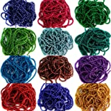 Beadsncraft Jewellery Making Ball Chain, Colored Ball Chain 1.5 Mm 12 Colors 2 Mtr Each Color for Silk Thread Jewellery Making Kit
