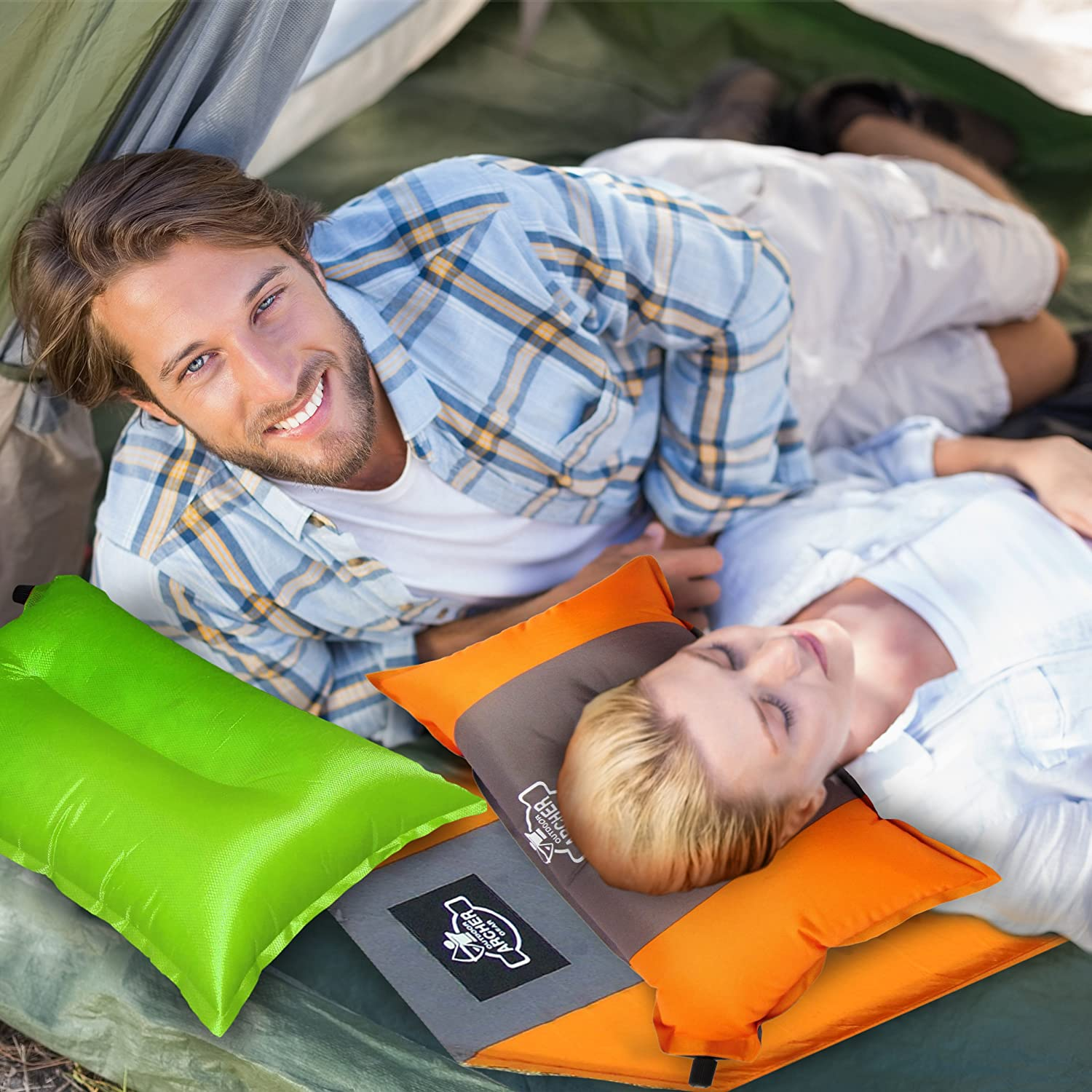 Amazon Archer Outdoor Gear Self Inflating Camping Air Pillow