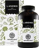 L-Arginin Kapseln - 365 Stück. Hochdosiert mit 4500 mg L-Arginin HCL (entspricht 3750 mg reinem L-Arginin) pro Tagesdosis. Aus pflanzlicher Fermentation. Vegan, hergestellt in Deutschland