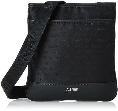 0680024e9db2 Armani Jeans 932527CC993, Sac pour homme à porter à l épaule Noir Schwarz (