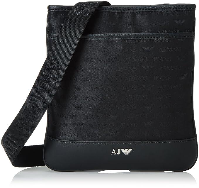 5e1a70305e Armani Jeans Jacquard Uomo Cross Body Bag Nero