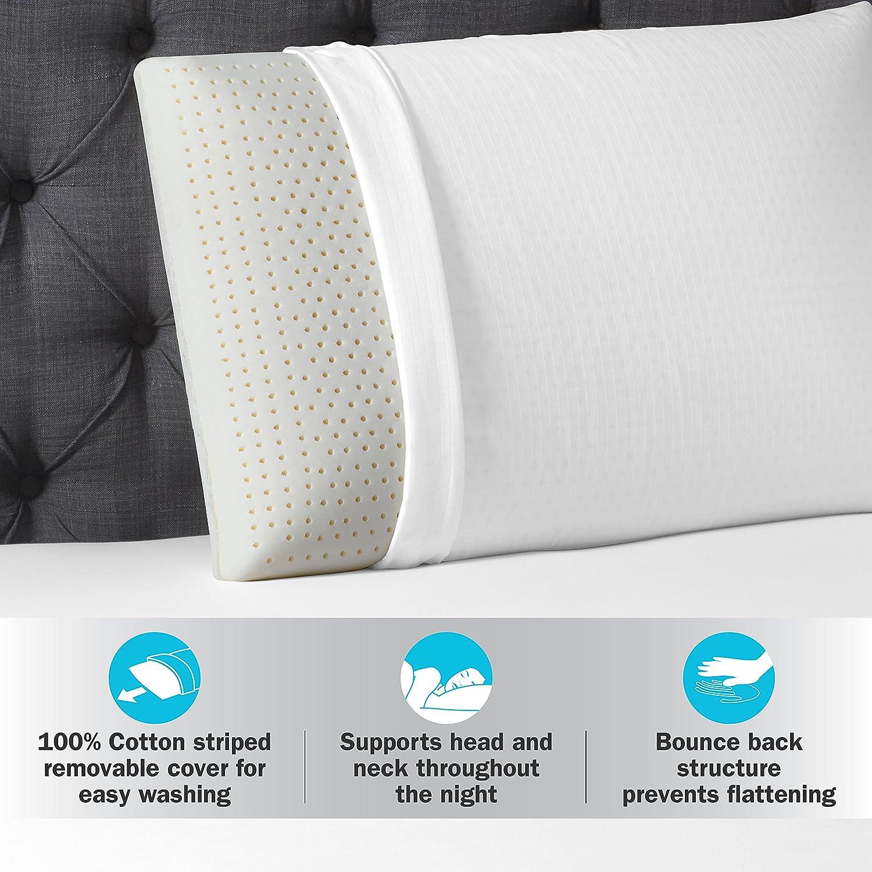 Beautyrest Latex Foam Pillow Standard Home Kitchen Dunlopillo Mattress Carriol 180 200