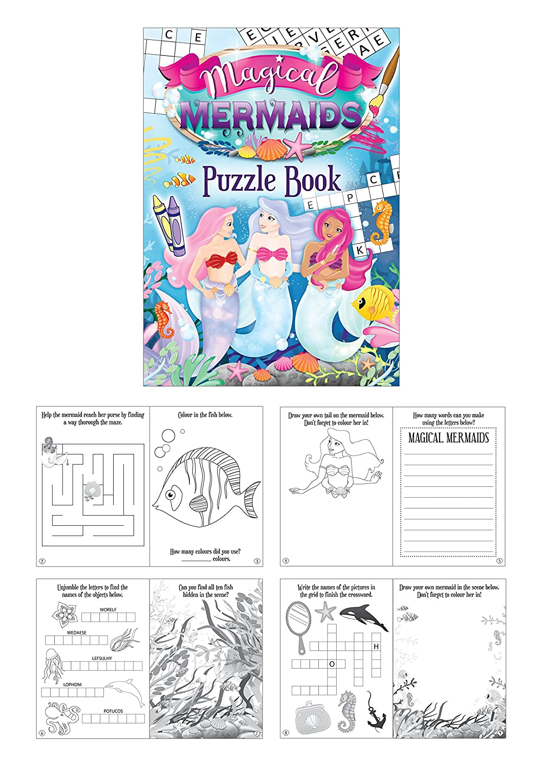 Loot//Party Bag Fillers Wedding//Kids Activity 6 Mini Colouring Books A6