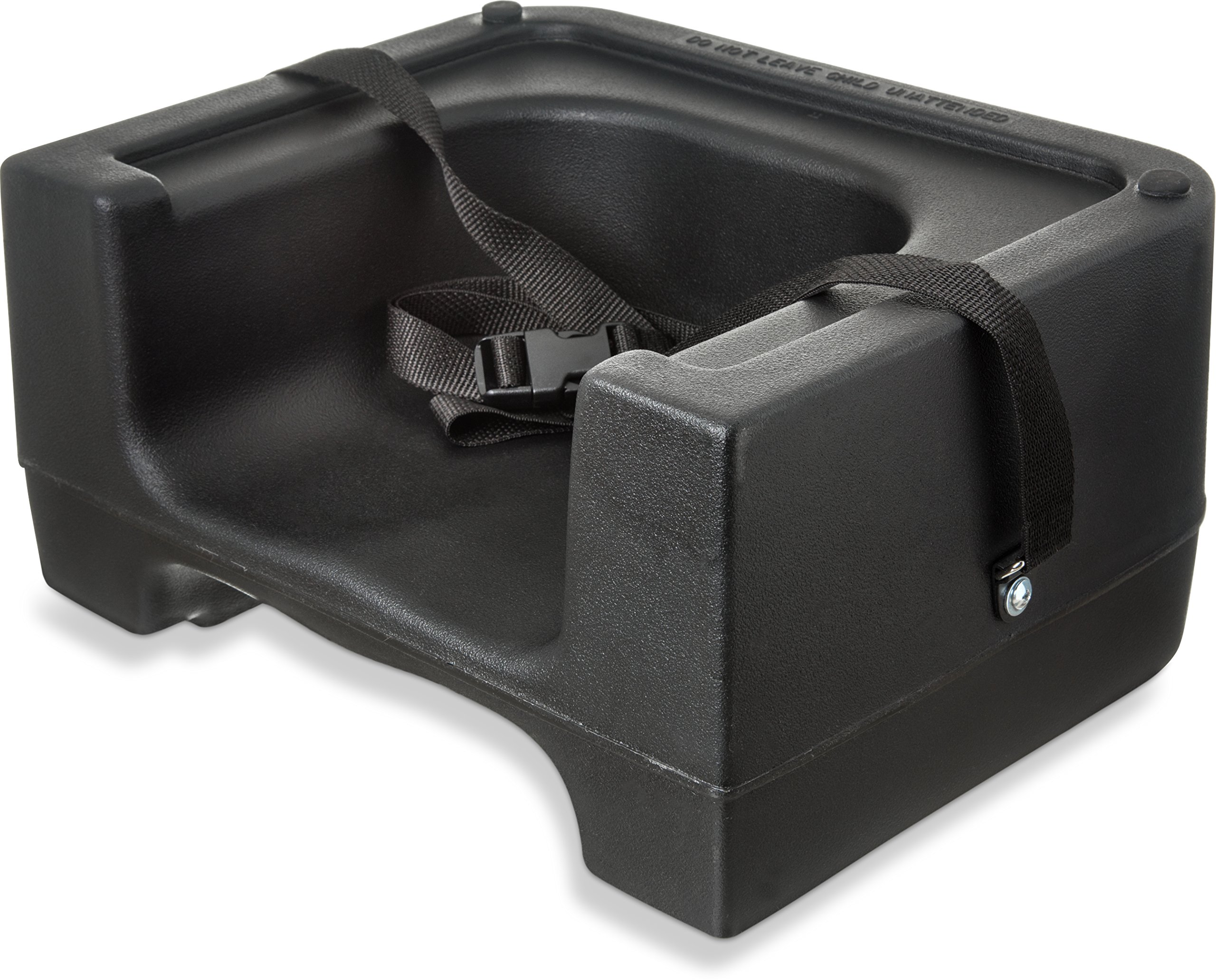 Carlisle 7111-403 Plastic Dual Seat Restaurant-Style Booster Chair with Safety Strap, Black (Pack of 4)