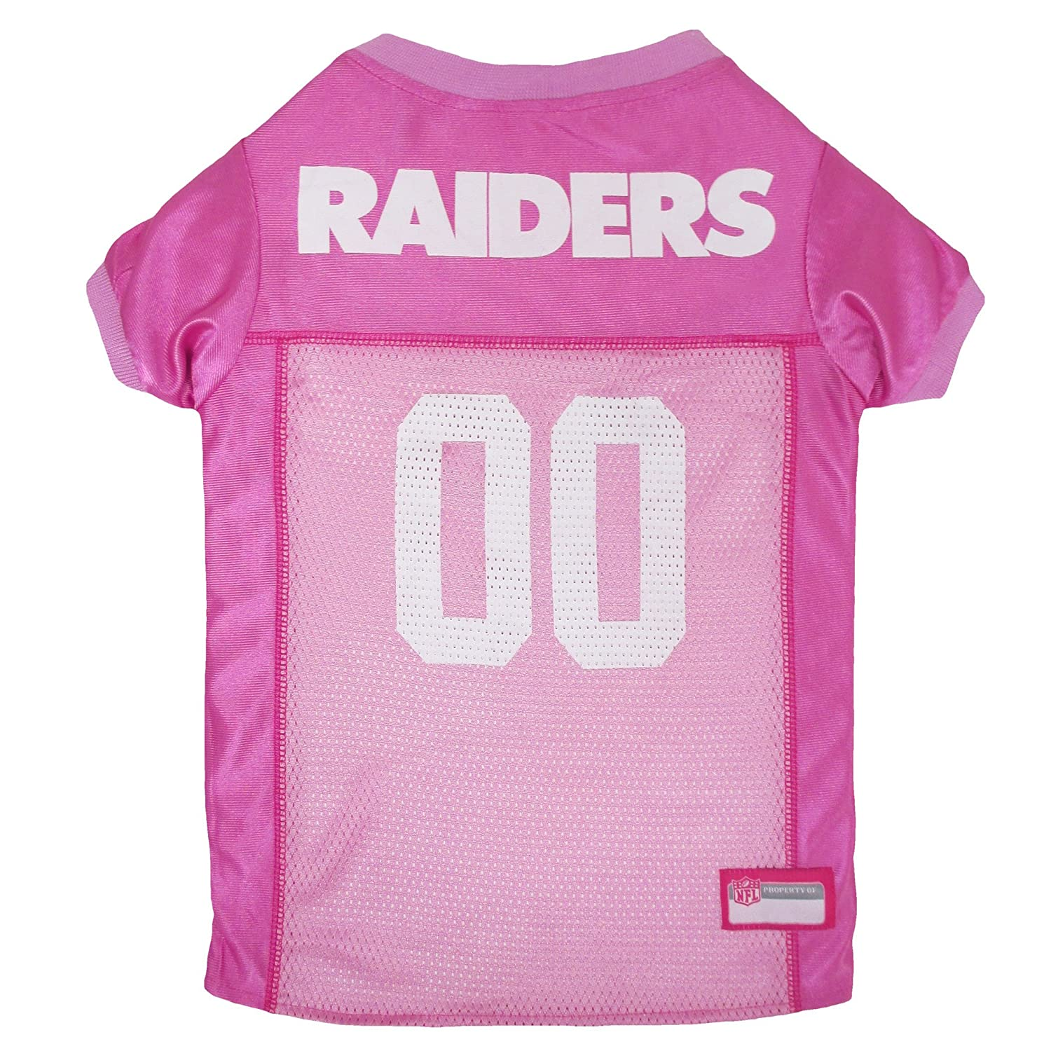 NFL OAK-4019-SM Oakland Raiders Pet Pink Jersey, Small by Mirage Pet Products