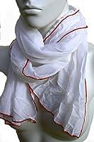 Veriela: Schal für Damen und Herren in weiß aus Baumwolle
