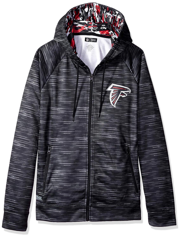Black XXLarge NFL Mens NFL Full Zip Camo Space Dye Hoodie