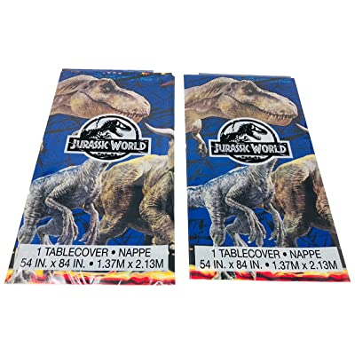 Jurassic World Fallen Kingdom Plastic Tablecover Party Supplies, 2 Pack: Toys & Games