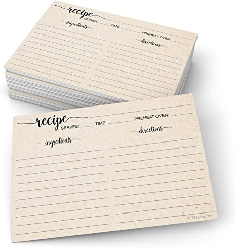 Recipe Cards Damask Spring-Summer Variety pack Recipe Cards 4x6 3x5 by request