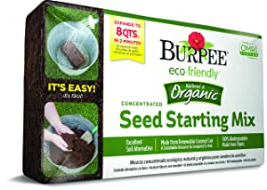Burpee Organic Coir Compressed Seed Starting Mix