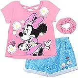 Disney Minnie Mouse Fashion T-Shirt Shorts Set with Scrunchie
