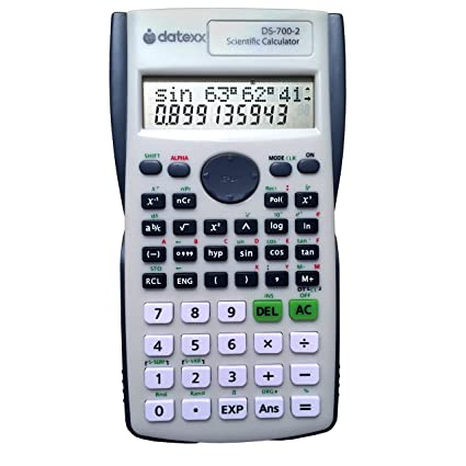 Amazon.com : Datexx DS-7002 Two Line Scientific Calculator, 200 functions for Scientific and Algebraic Calculation : Electronics