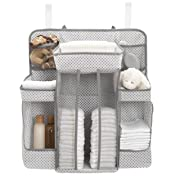 Delta Children Universal Hanging Organizer for Changing Tables   Diaper Caddy   Nursery Storage, Cool Grey