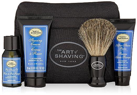 The Art of Shaving 4 Piece Starter Kit with Bag, Lavender