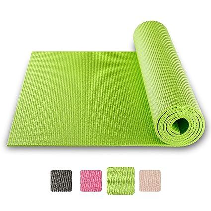 BODYMATE Esterilla para Yoga Universal - Tamaño 183x61 cm – Grosor 6 mm – Análisis de Sustancias Nocivas por SGS, no Contiene Ftalatos, BPA, Metales ...