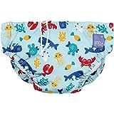 Bambino Mio, Reusable Swim Nappy, deep sea Blue, Small (0-6 Months)