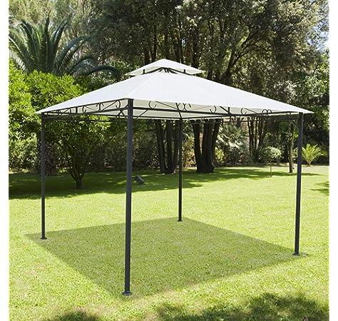 Grasekamp - Cenador de Calidad Desde 1972, 3 x 3 m, Color Terracota: Amazon.es: Hogar