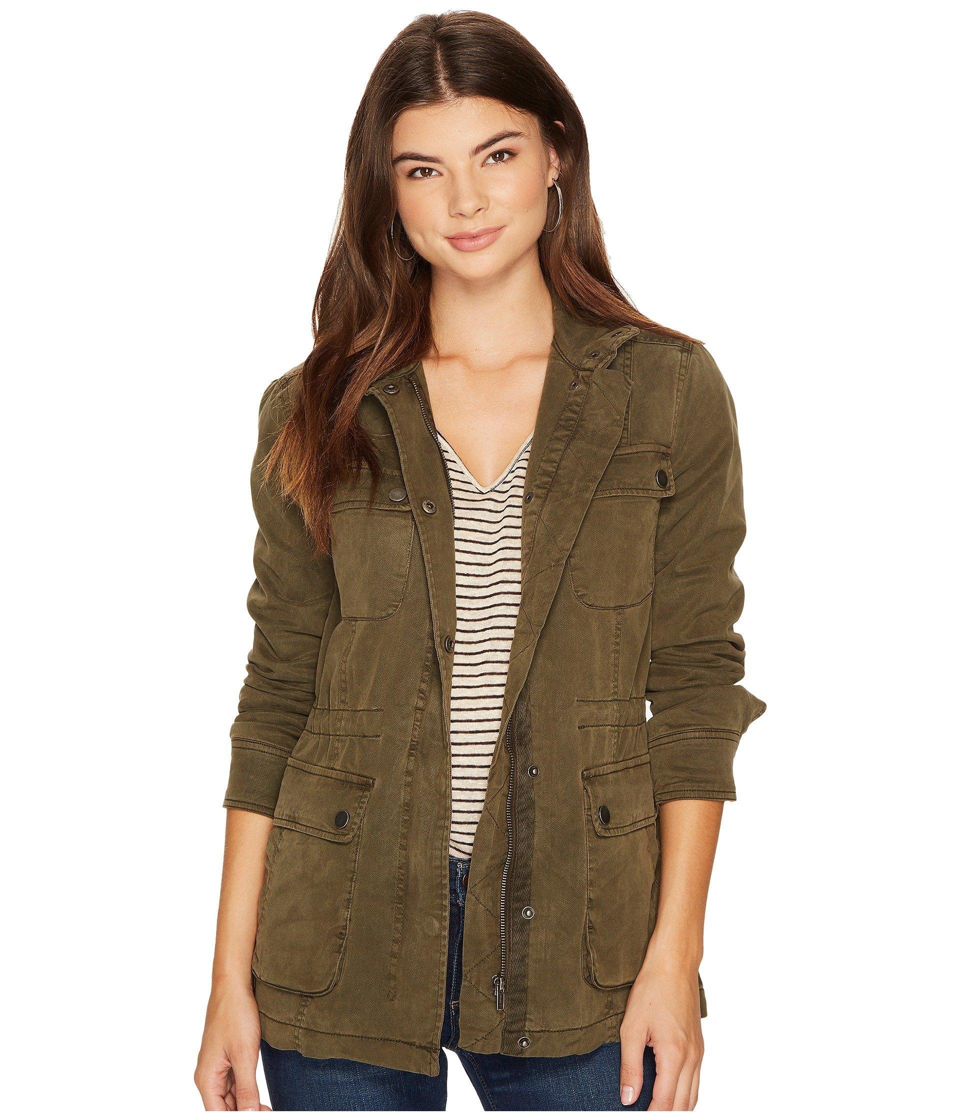 Lucky Brand Women's Utility Jacket Dark Sage Outerwear