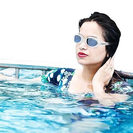 48d1bfb9e0 Amazon.com   Lejare  Swimming Goggles For Men And Women White Color ...
