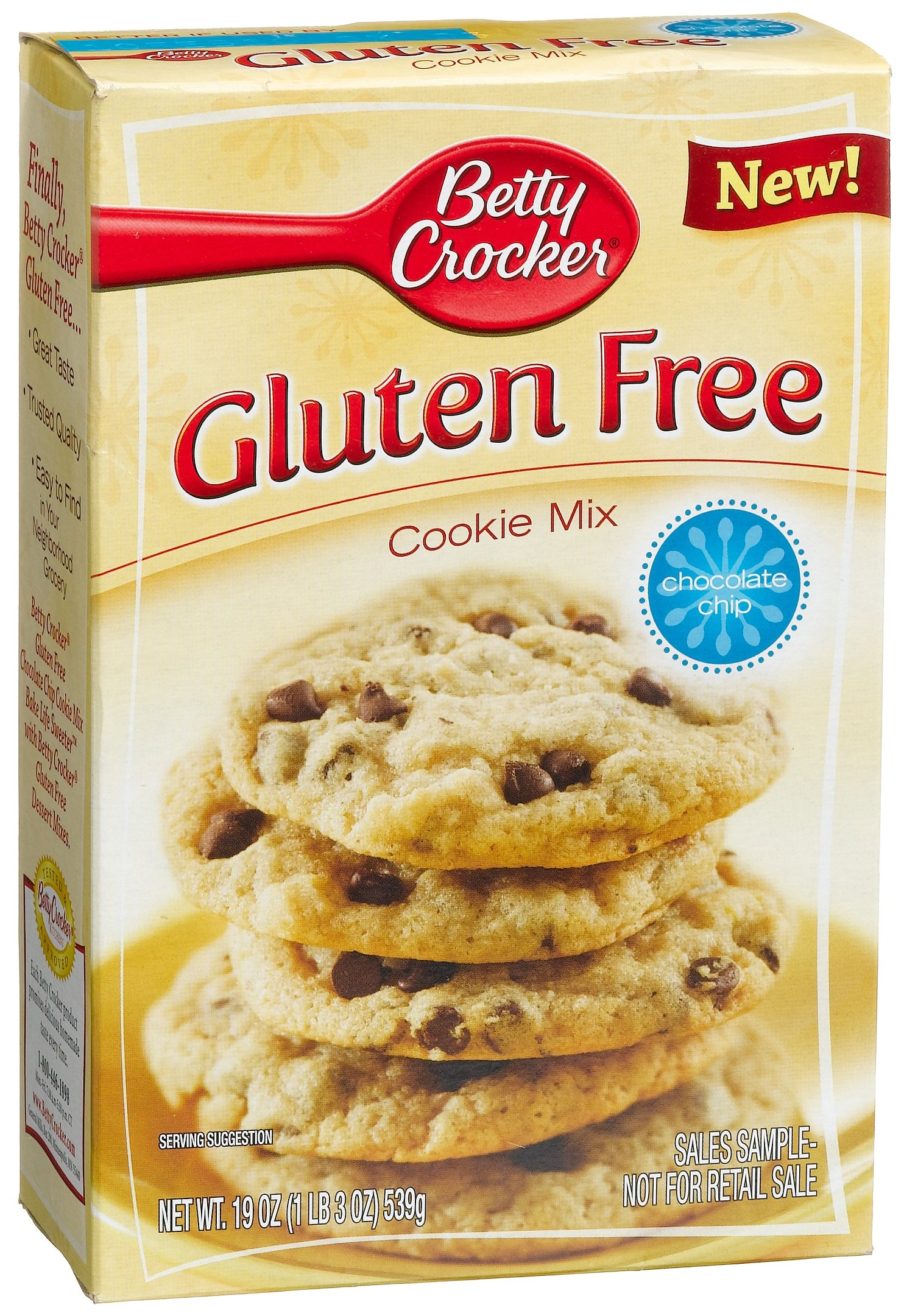 Betty Crocker Baking Mix, Gluten Free Cookie Mix, Chocolate Chip, 19 Oz Box (Pack of 6) by Betty Crocker (Image #2)