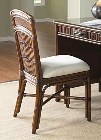 Polynesian Rattan U0026 Bamboo Desk Chair With Cushion