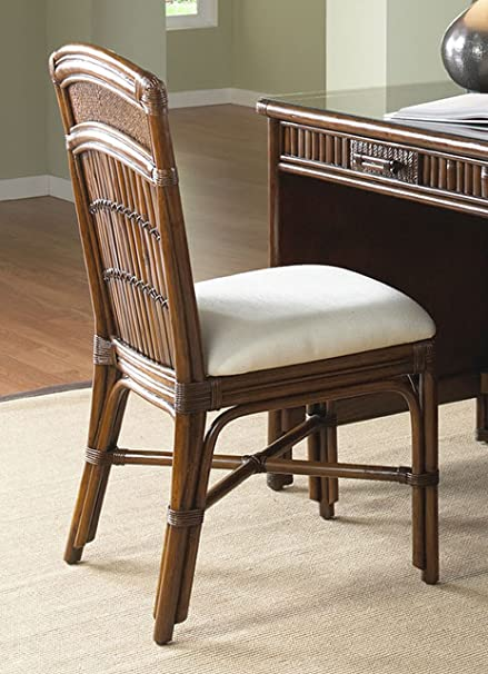 rattan office chair. Polynesian Rattan \u0026 Bamboo Desk Chair With Cushion Office S