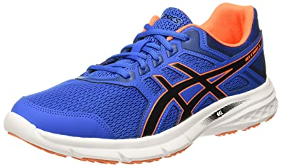 c3152cf88 ASICS Men s Gel-Excite 5 Victoria Blue Black Shocking Orange Running Shoes-