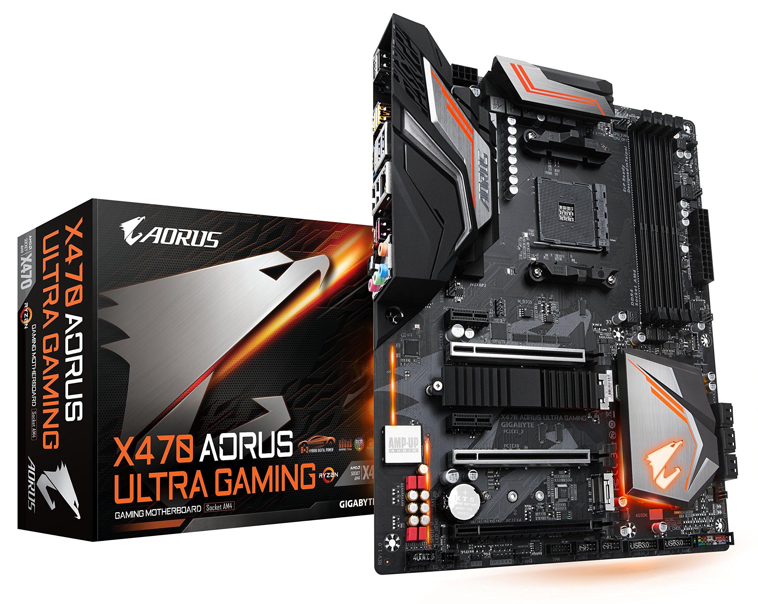 GIGABYTE X470 AORUS ULTRA GAMING (AMD Ryzen AM4/ X470/ USB 3.1 Gen 2 Front Type C/ ATX/ DDR4/ Motherboard)