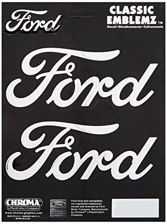 """New Stick-Onz Oval Ford Decal 3"""" by 5""""."""