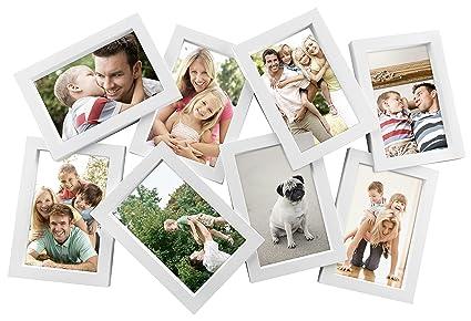 Amazon.com - MCS Zig-Zag Collage Frame with 8-4x6 Openings, White ...