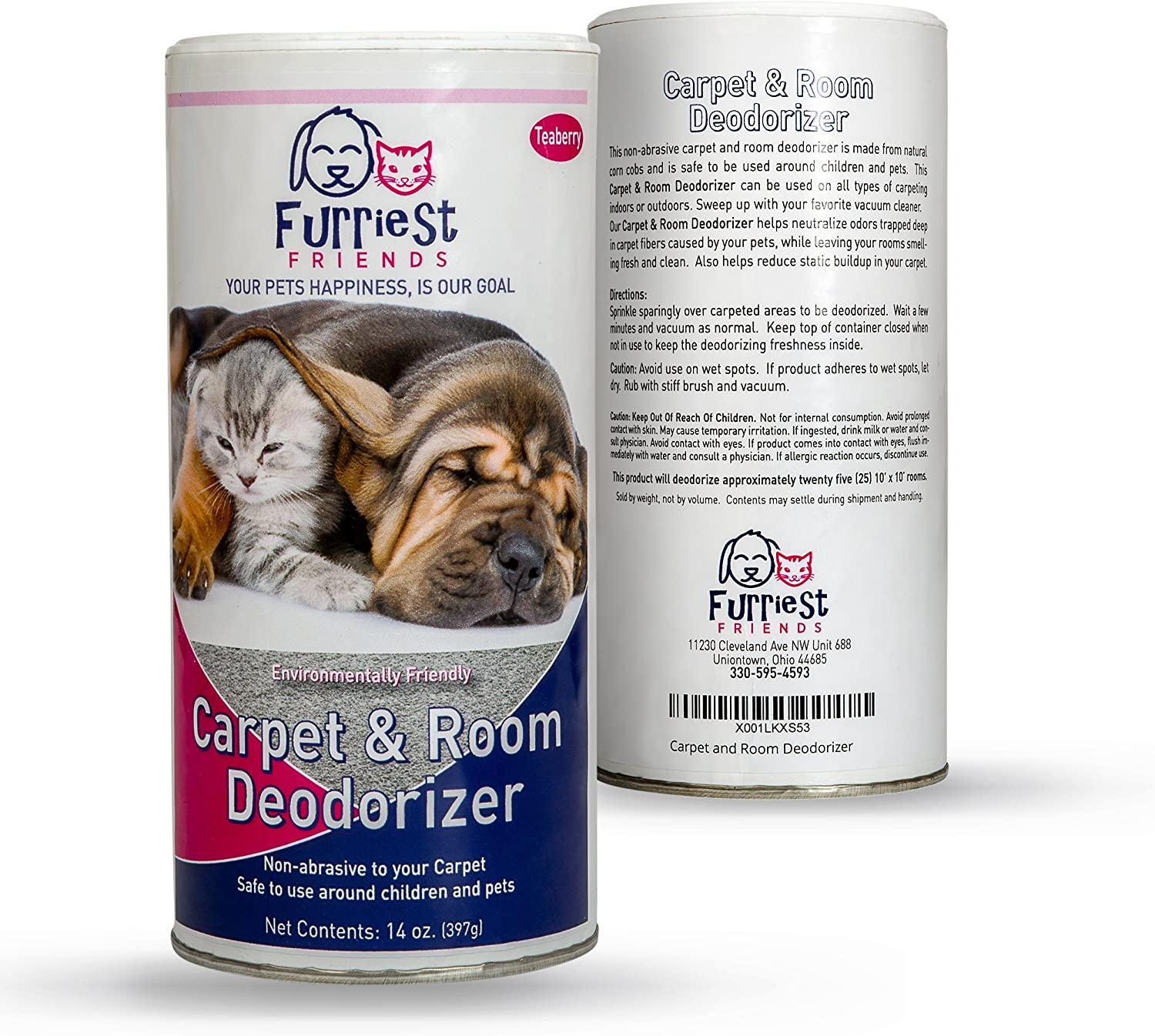 Furriest Friends Carpet and Room Deodorizer – Pet Odor Eliminator Neutralizer