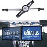 Girafus ®Relax H3 Universal Tablet Support appuie-tête de voiture pour banquette arrière tournant à 360° pour tablettes de 9,5-14,5 pouces Apple iPad/iPad PRO (9.7&12.9'')/Samsung GALAXY Tab PRO HTC, Asus