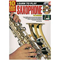 10 Easy Lessons - Learn to Play Saxophone - Book, CD & DVD
