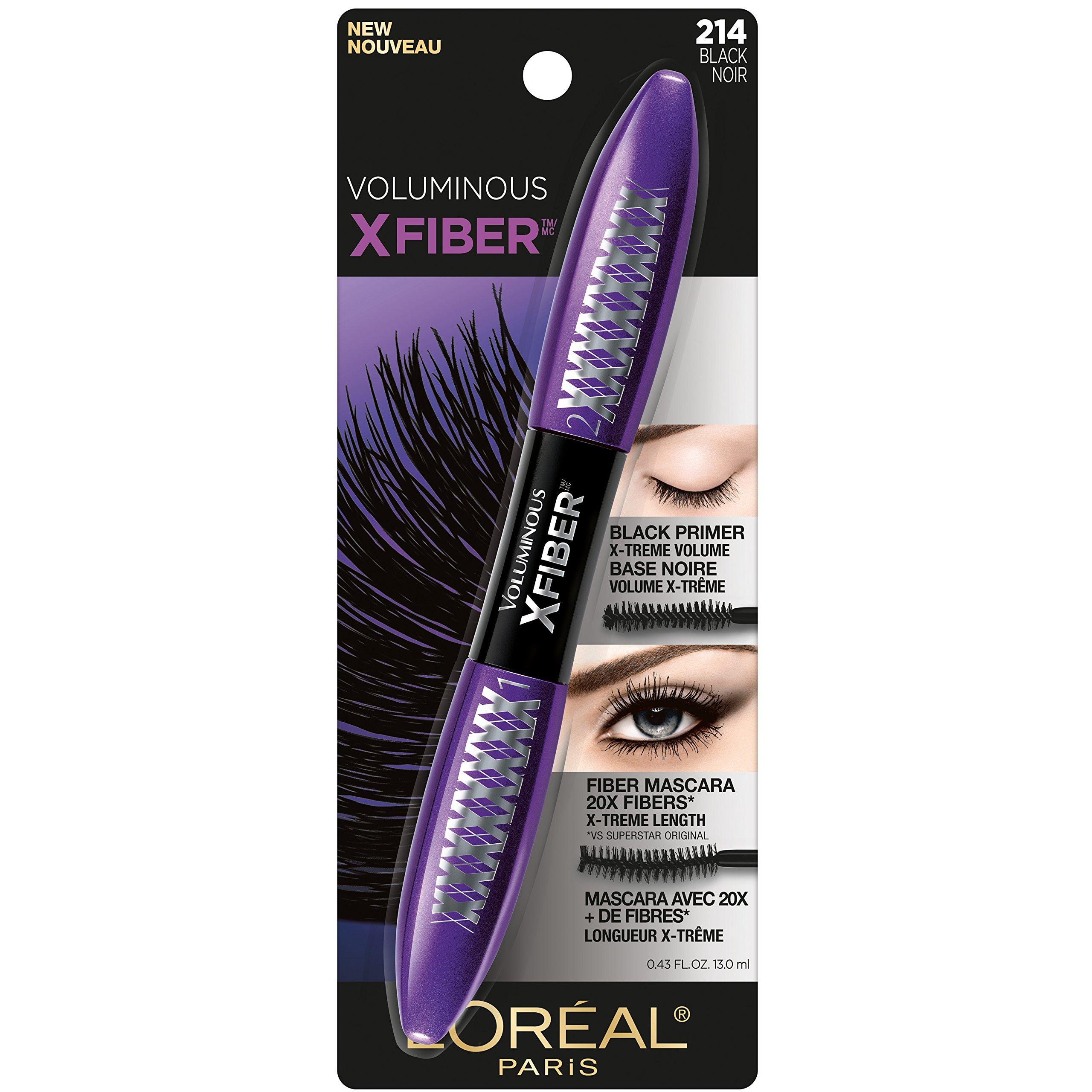 51d8ce7b78cec Amazon.com   L Oréal Paris Makeup Voluminous X Fiber Mascara with ...